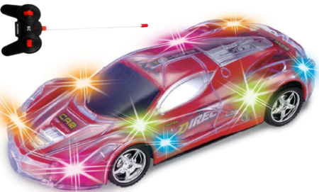 this is an image of girl's spectacular flashing remote control car in colorful colors