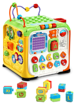 this is an image of babies Ultimate alphabet activity cube in colorful colors
