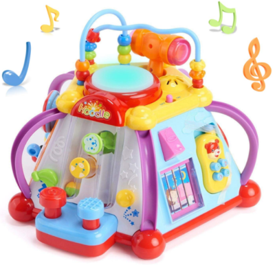 this is an image of babies woby musical cube in colorful colors