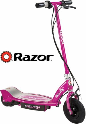 This is an image of Pink Razor Electric Scooter