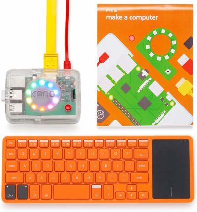 This is an image of an orange computer making kit
