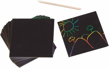 This is an image of art sketch scratch pads