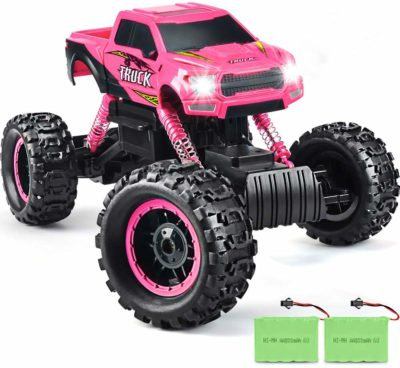 This is an image of pink RC Monster truck