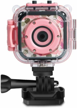 This is an image of pink waterproof HD camera