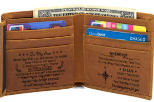 this is an image of a wallet for son